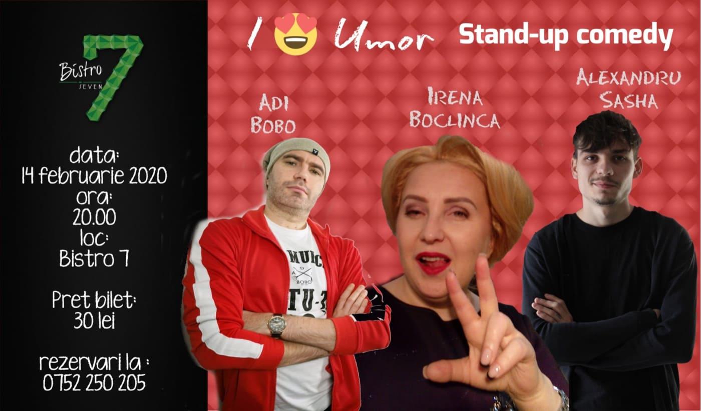 Stand-up comedy cu Adi Bobo, Irena Boclinca și Alexandru Sasha