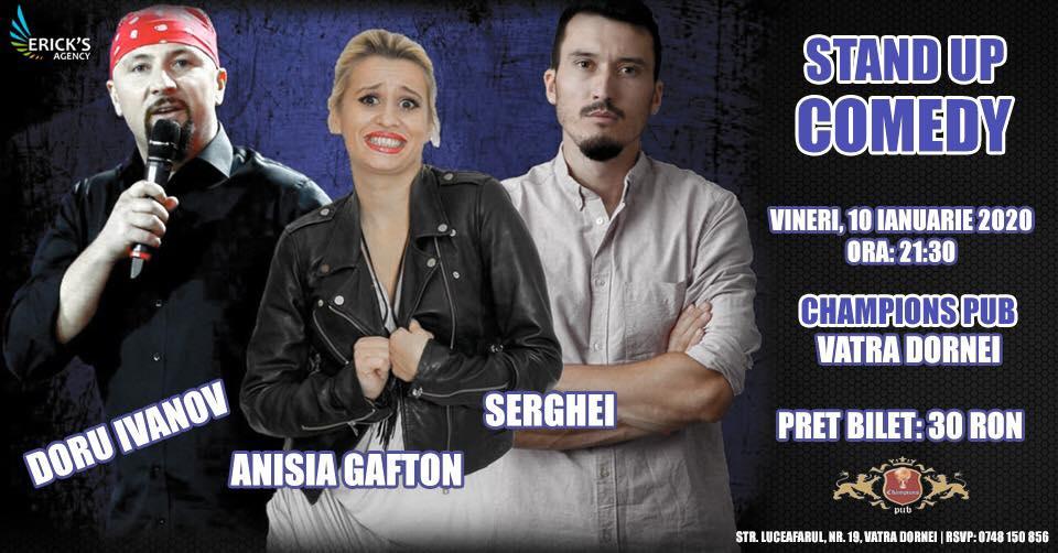 Stand-up comedy cu Doru Ivanov, Anisia Gafton și Serghei