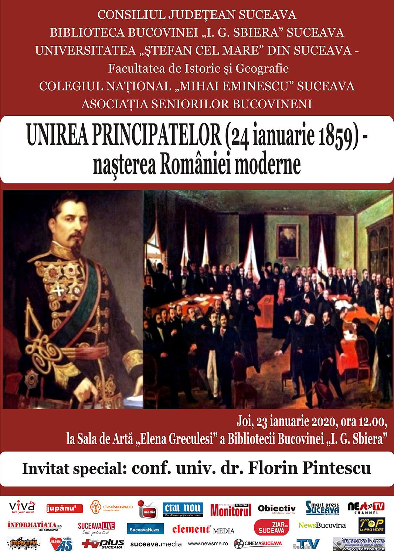 Unirea Principatelor (24 Ianuarie 1859) - nașterea României moderne