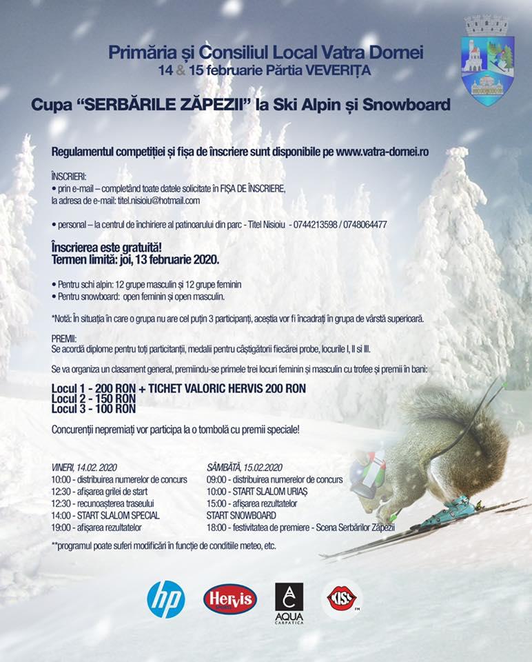 Cupa Serbările Zăpezii la ski alpin și snowboard