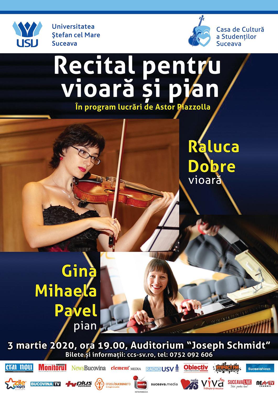 Recital pentru vioara si pian