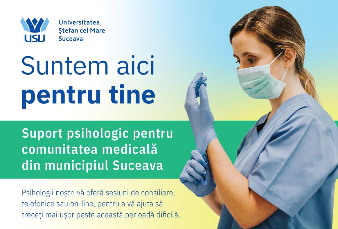 Universitatea Ștefan cel Mare lansează Centrul de sprijin emoțional și consiliere psihologică,  dedicat cadrelor medicale din Spitalul Județean de Urgență Suceava