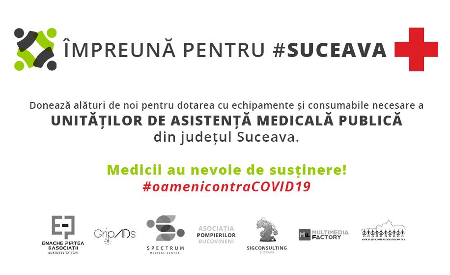 Împreună pentru #Suceava! Personalul medical are nevoie de ajutor