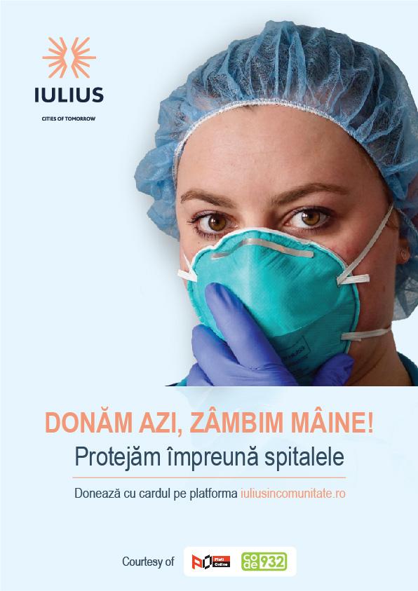 Peste 150.000 de euro au fost oferiți de IULIUS sistemului medical
