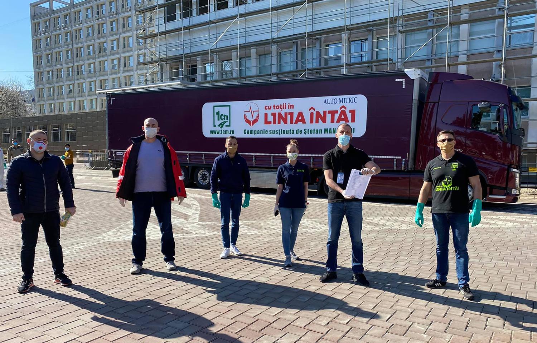 """Primele ajutoare din cadrul campaniei """"1 Centimetru de Fapte - Cu Toții în Linia Întâi"""" au ajuns la spitalele din Suceava și Rădăuți"""