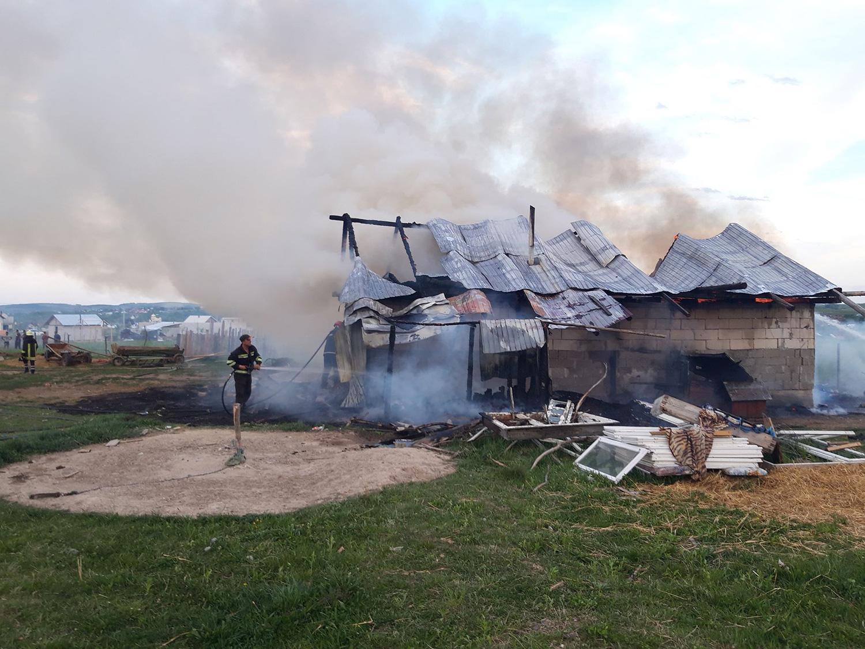 Incendiu în comuna Arbore