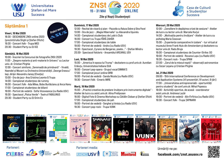 ZNSt (Zile și Nopți Studențești) USV 2020