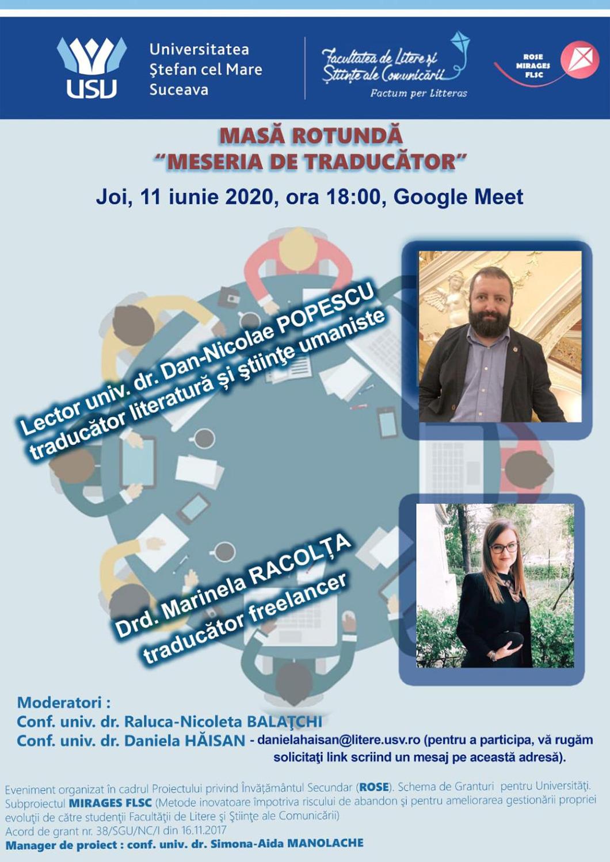 Cea de-a treia ediție a evenimentului intitulat Meseria de traducător s-a desfășurat online