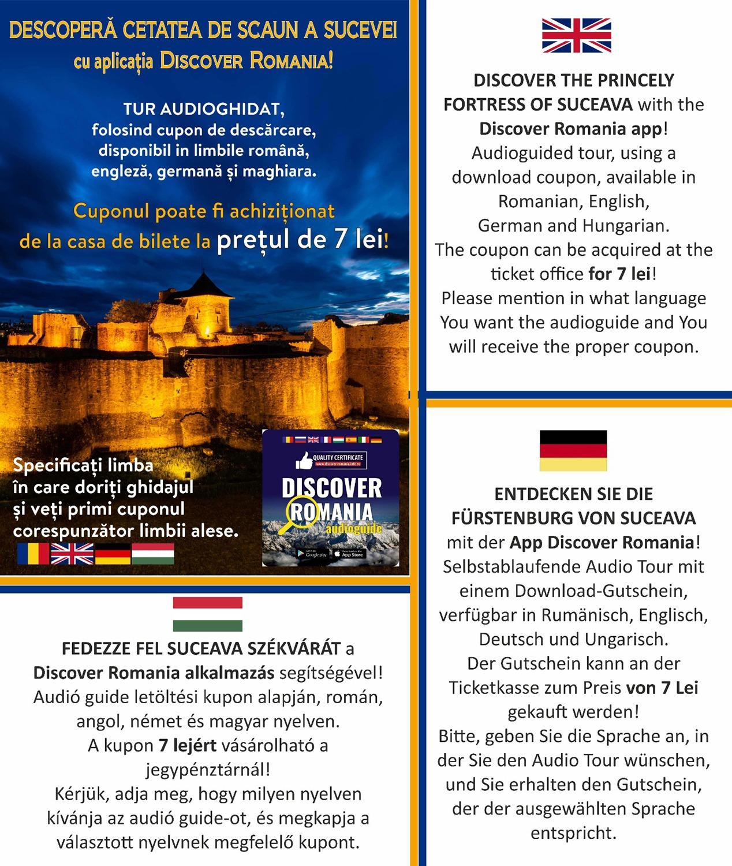 Descoperă Cetatea de Scaun a Sucevei cu aplicația Discover Romania!