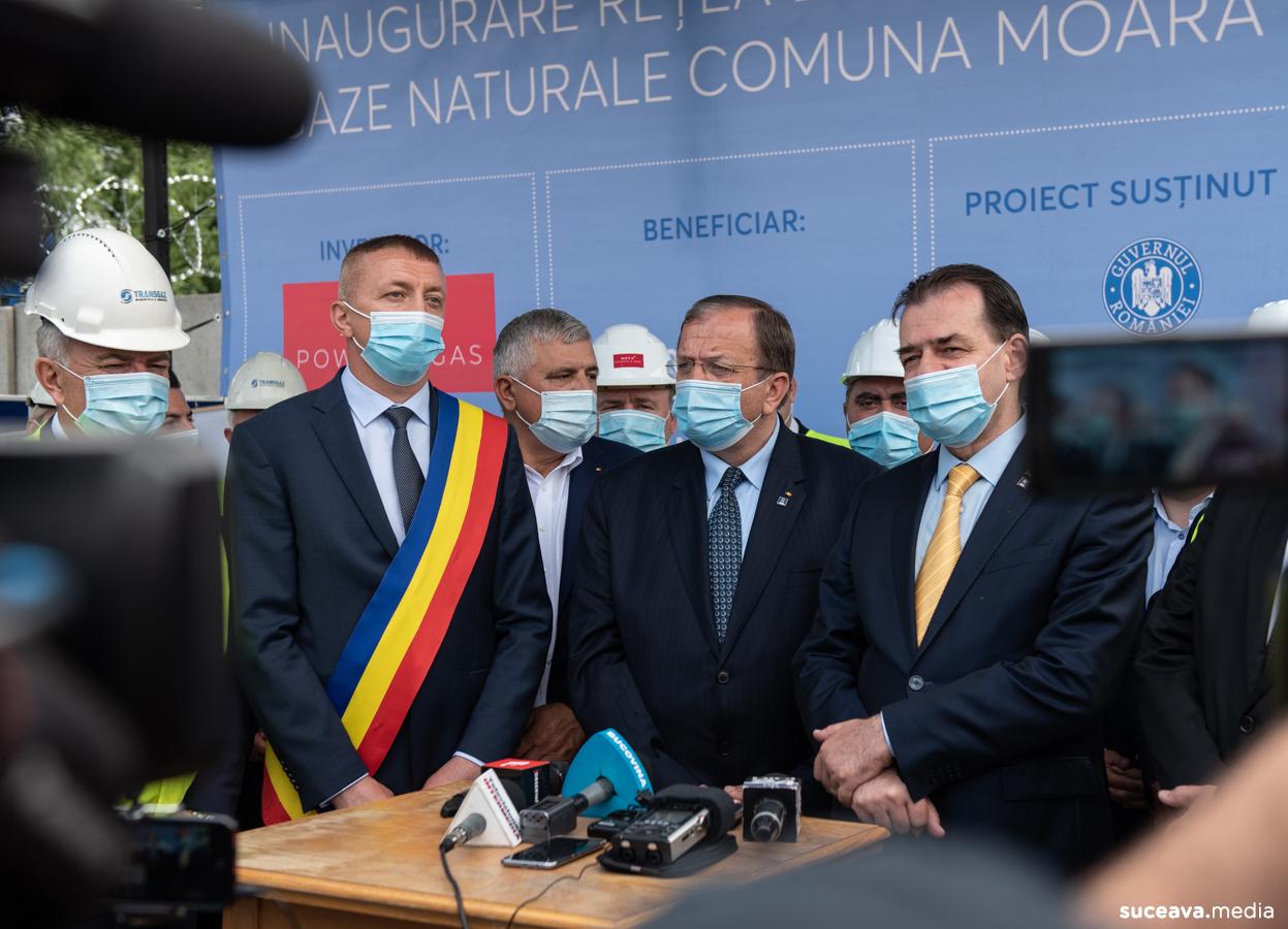Nova Power & Gas, companie din grupul E-INFRA, a inaugurat rețeaua de gaze naturale din comuna Moara (fotoreportaj)