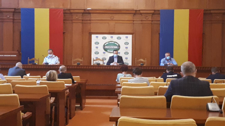Concluziile ședinței extraordinare a Comitetului Județean pentru Situații de Urgență Suceava
