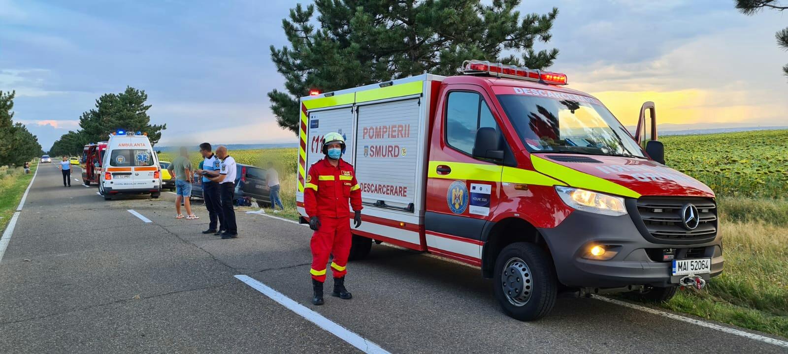 Accident rutier pe strada Aeroportului din orașul Salcea