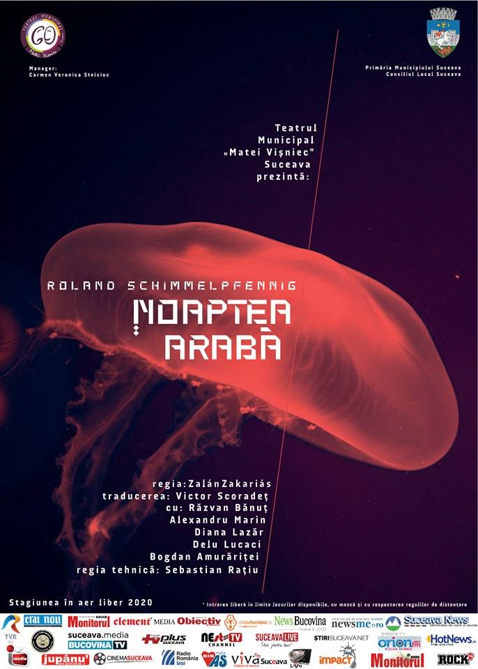 Noaptea arabă, o nouă producție a Teatrul Municipal Matei Vișniec Suceava
