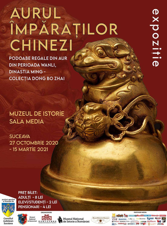Aurul împăraților chinezi. Podoabe regale de aur din perioada Wanli - Dinastia Ming. Colecția Dong Bo Zhai