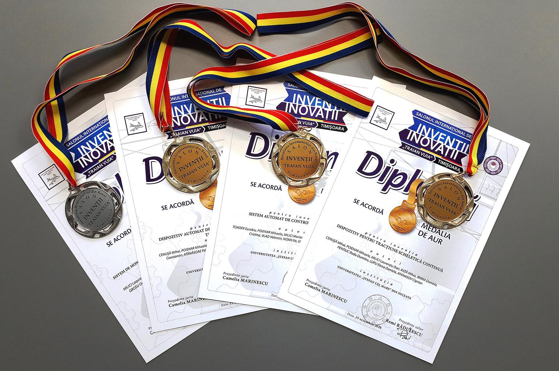 Premii pentru invențiile cadrelor didactice și doctoranzilor din universitatea suceveană la Salonul Internațional de Invenții și Inovații Traian Vuia din Timișoara
