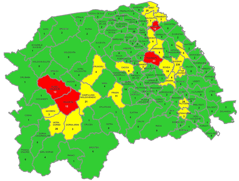 Situația epidemiologică la nivelul județului Suceava în data de 12 Octombrie 2020