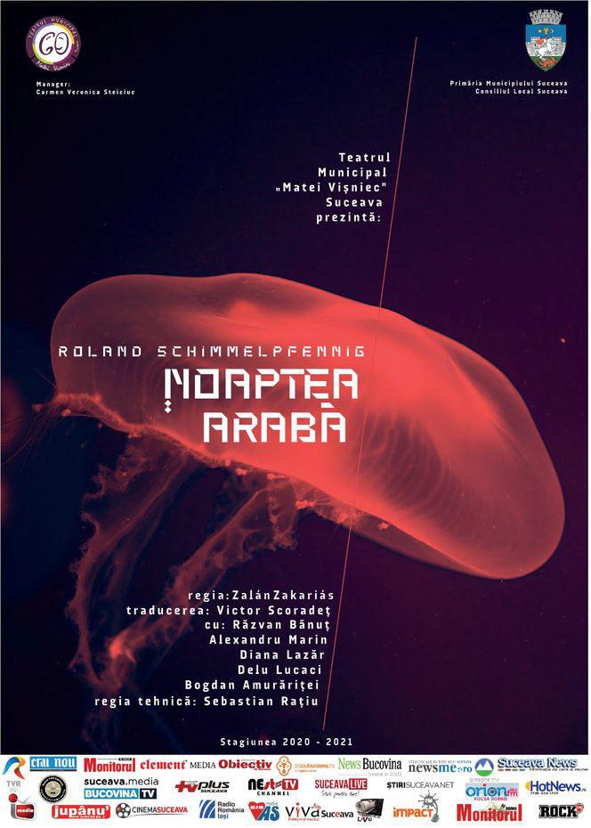 Teatrul Municipal Matei Vișniec din Suceava anunță începerea producției unui nou spectacol: Noaptea arabă