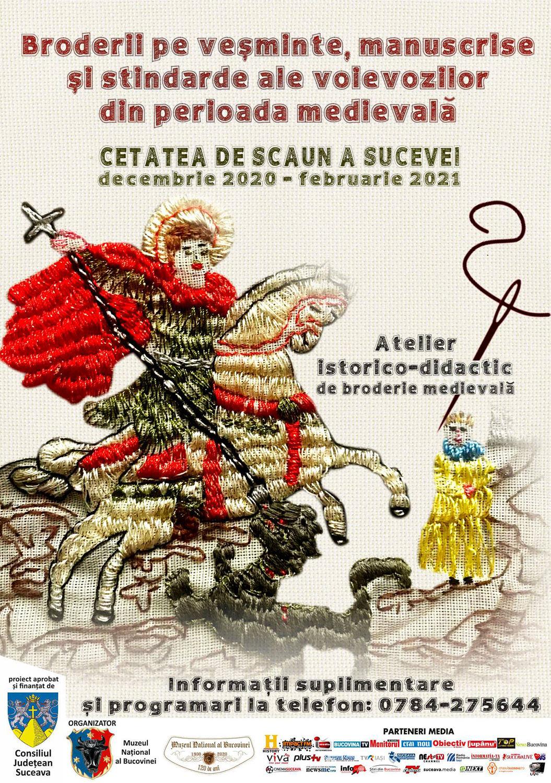 Broderii pe veșminte, manuscrise și stindarde ale voievozilor din perioada medievală, un nou proiect educațional la Muzeul Național al Bucovinei