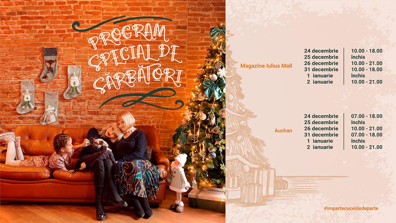 Programul Iulius Mall Suceava în perioada sărbătorilor de iarnă