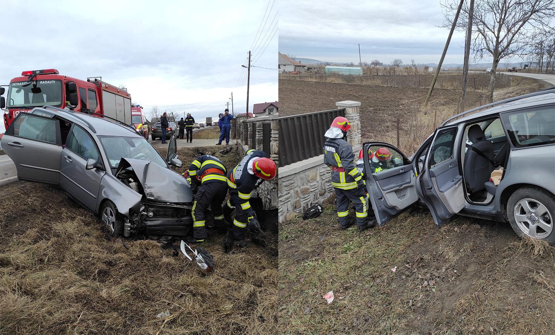 Accident rutier în orașul Milișăuți
