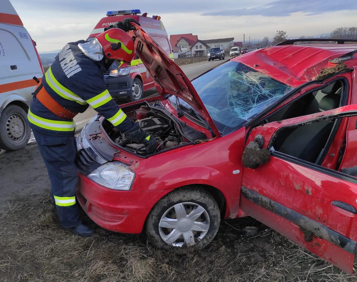 Accident rutier la ieșirea din localitatea Milișăuți