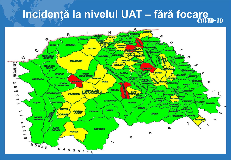 În județul Suceava sunt 1.198 cazuri de infecție Covid-19 în evoluție