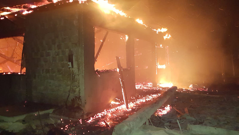 Incendiu în comuna Slatina