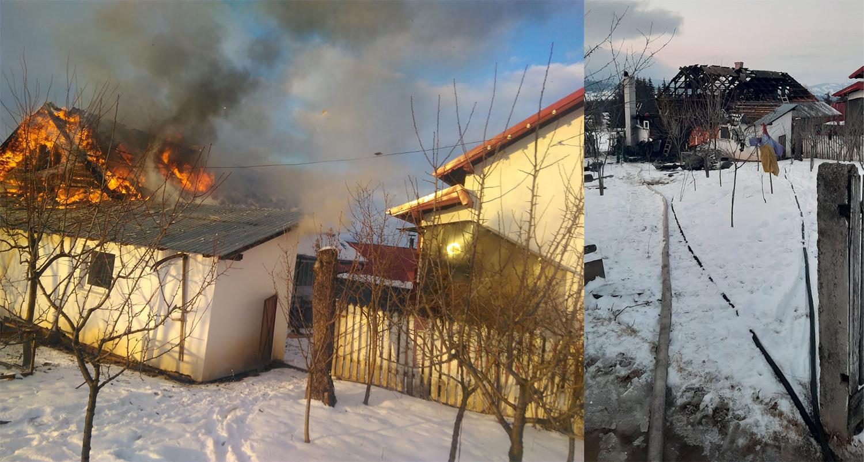 Incendiu în localitatea Neagra Șarului