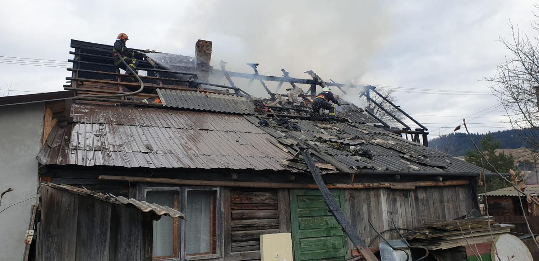 Incendiu în orașul Frasin