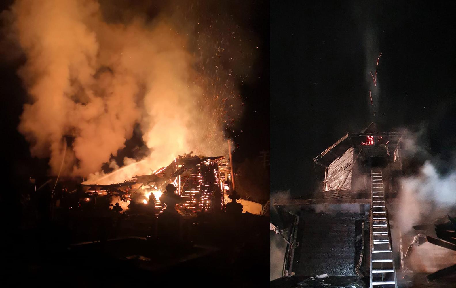 Incendiu la Biserica Sfinții Arhangheli Mihail și Gavriil din Brodina de Sus