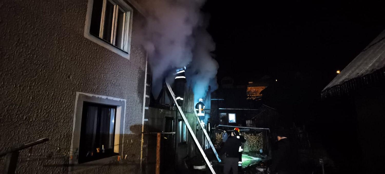 Incendiu la o construcție din municipiul Vatra Dornei