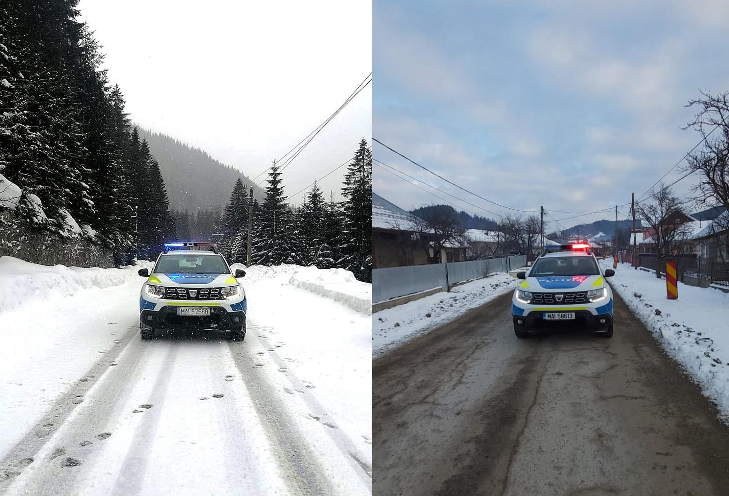 50 de echipaje de poliție în teren pentru suravegherea și fluidizarea traficului rutier în condiții de iarnă