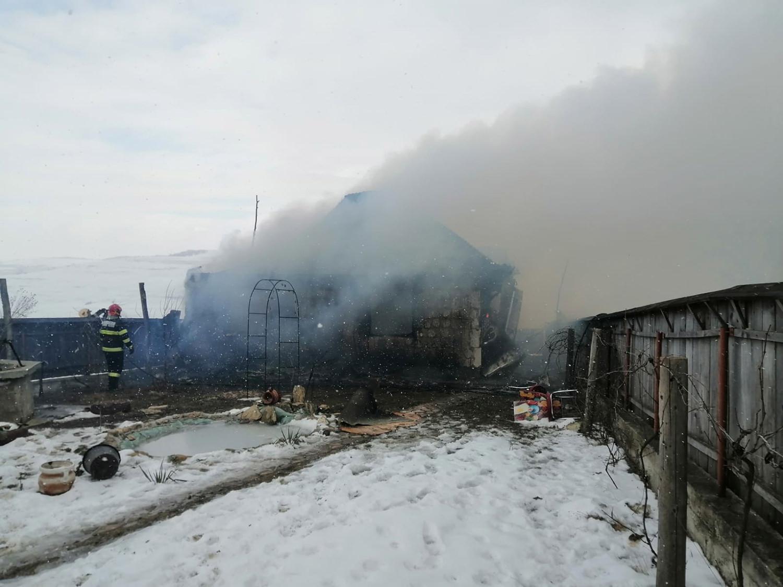 Incendiu în satul Giurgești