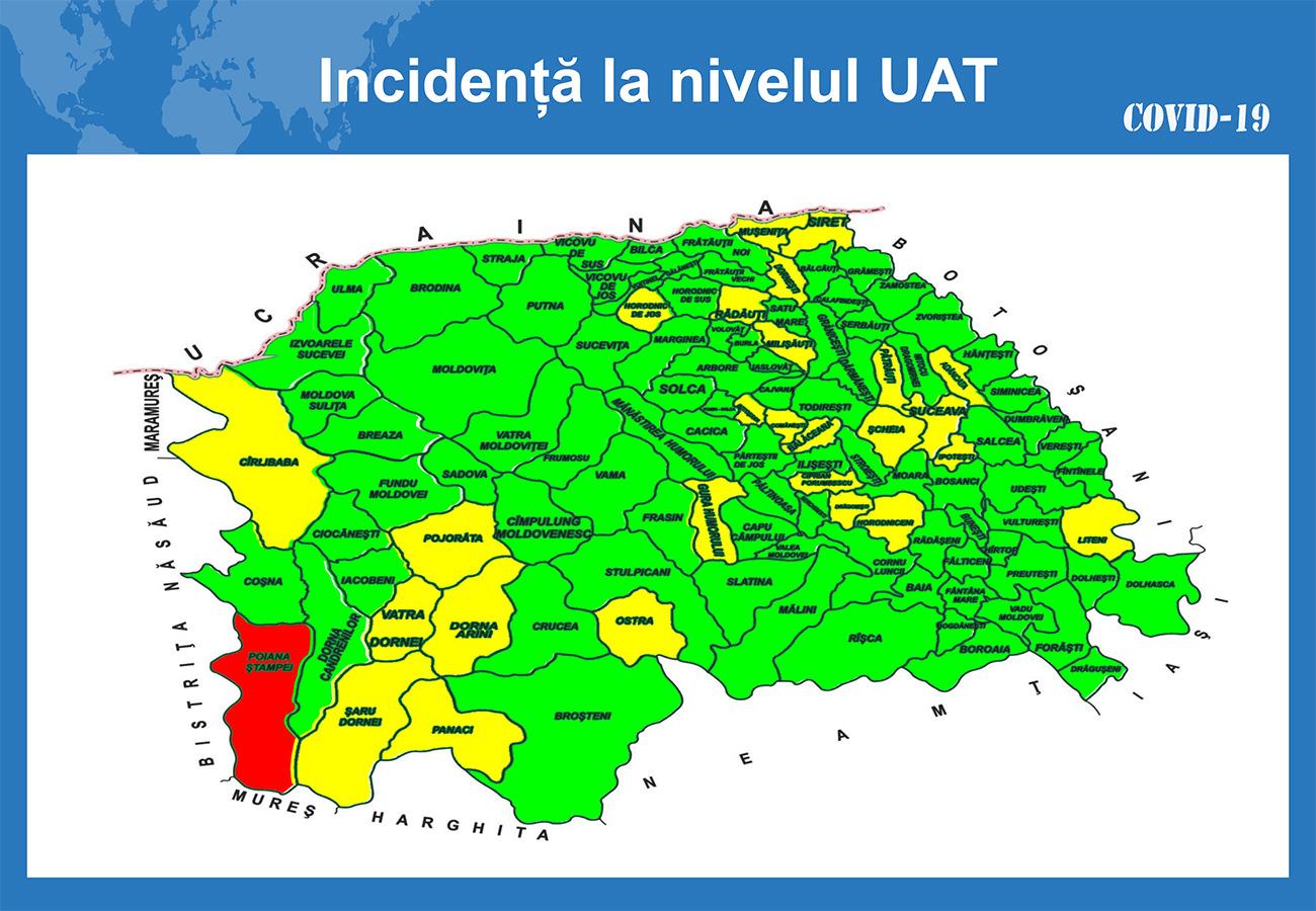 În județul Suceava sunt 913 cazuri de infecție Covid-19 în evoluție