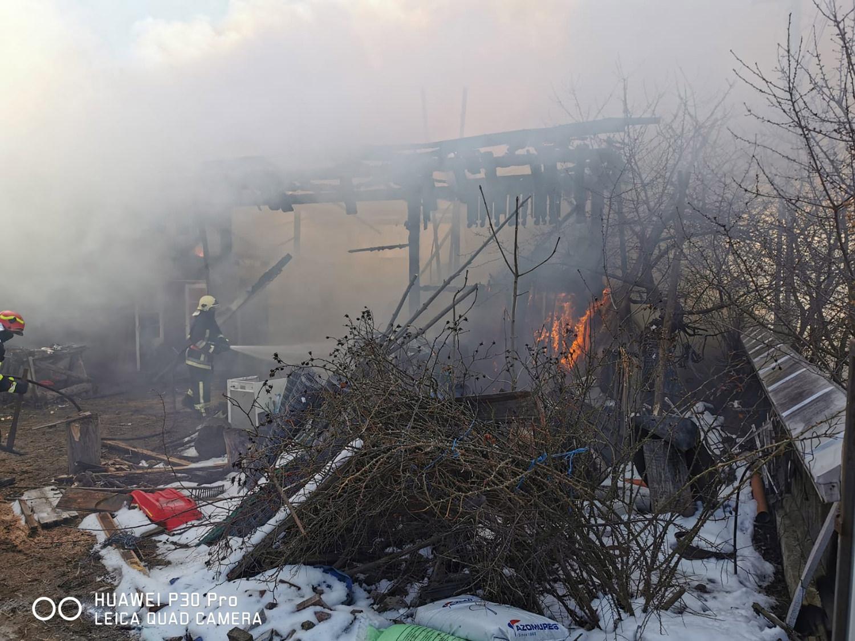 Incendiu în localitatea Burla