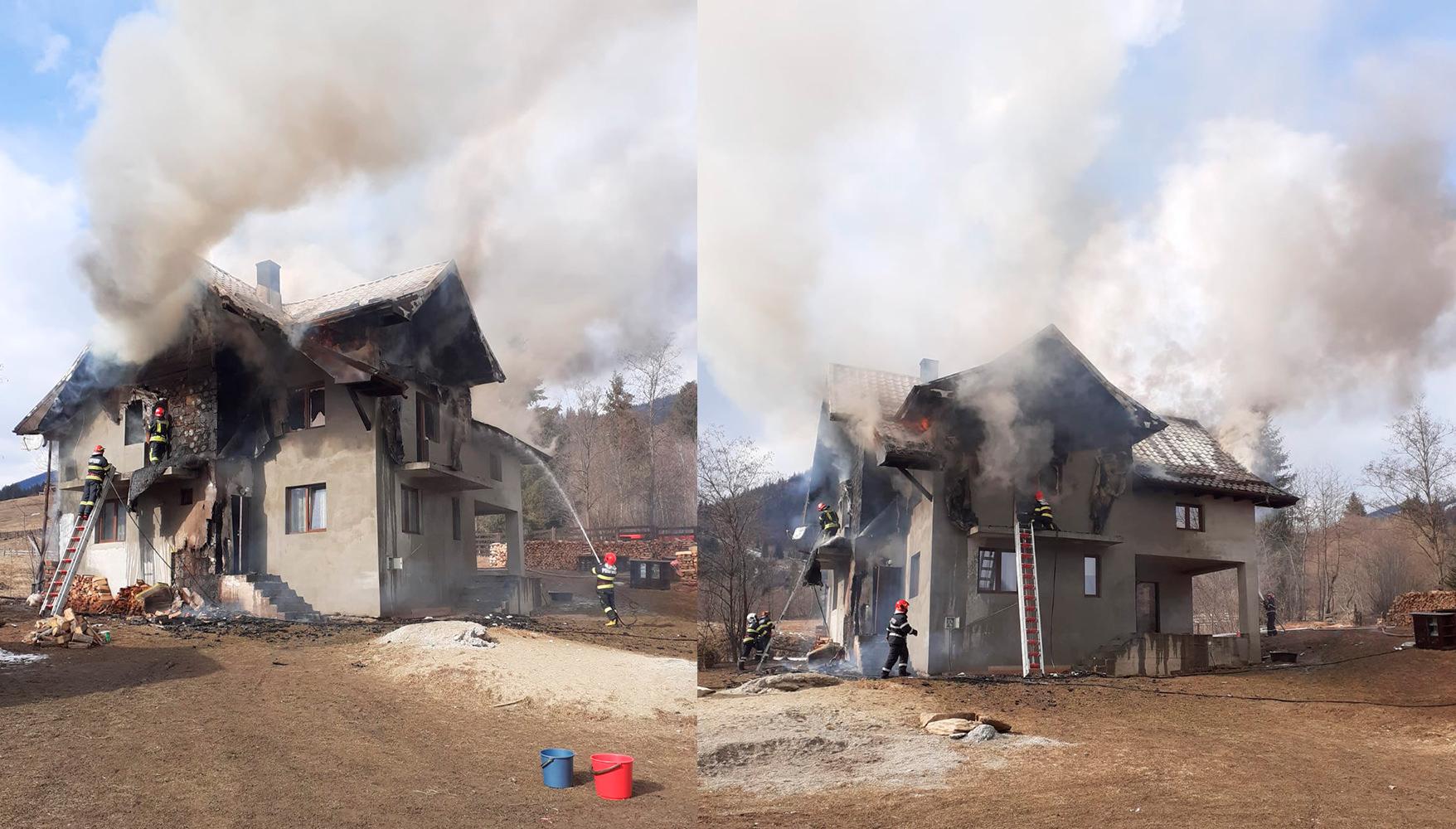 Incendiu în satul Prisaca Dornei