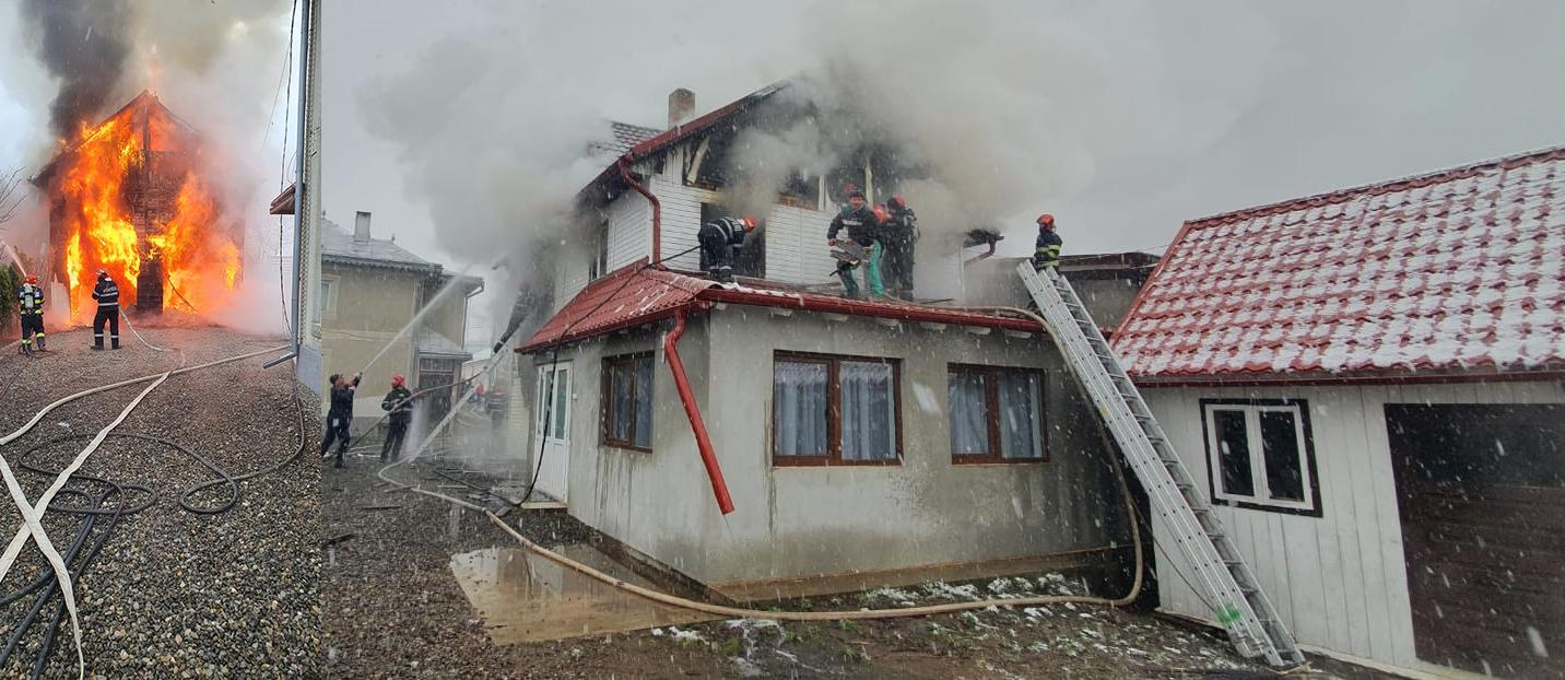 Incendiu în comuna Dorna Candrenilor