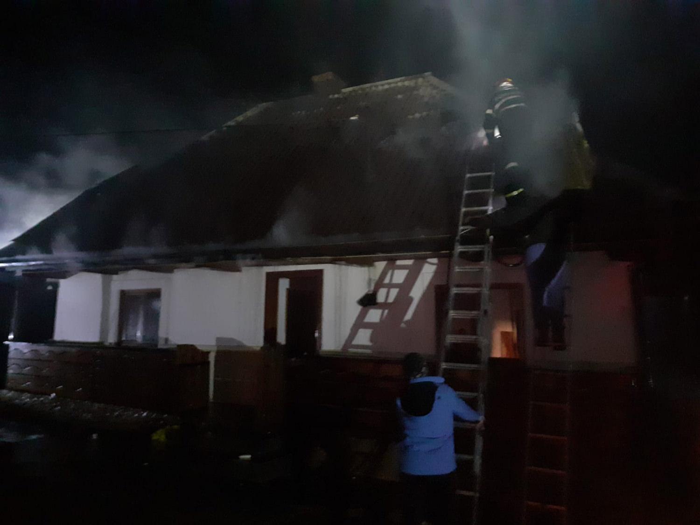 Incendiu în comuna Voitinel