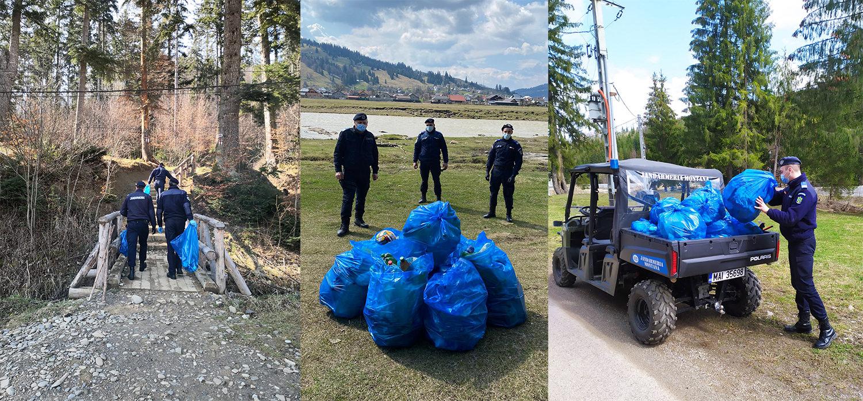 Inspectoratul de Jandarmi Județean Suceava organizează o campanie de igienizare a traseelor turistice
