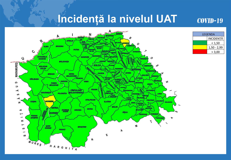 În județul Suceava sunt 244 cazuri de infecție Covid-19 în evoluție