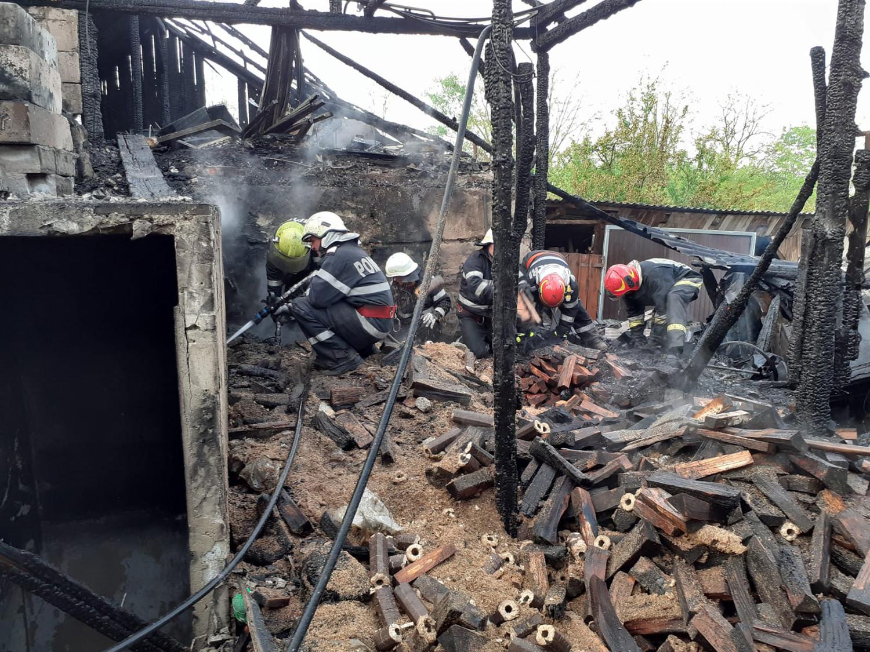 Incendiu în orașul Siret
