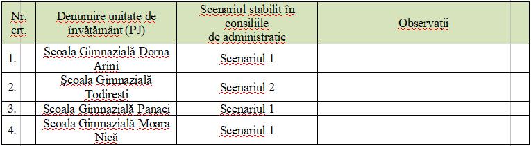 Noi scenarii de funcționare pentru unele instituții de învățământ din județul Suceava