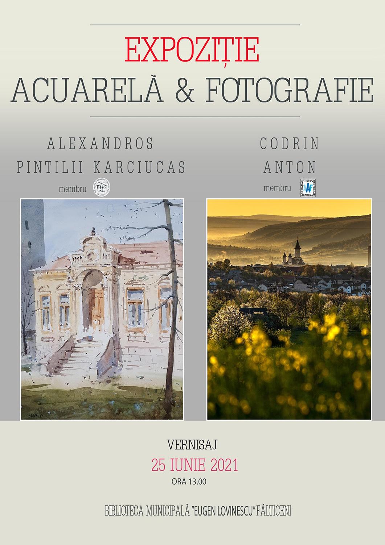 Expoziție de acuarelă și fotografie