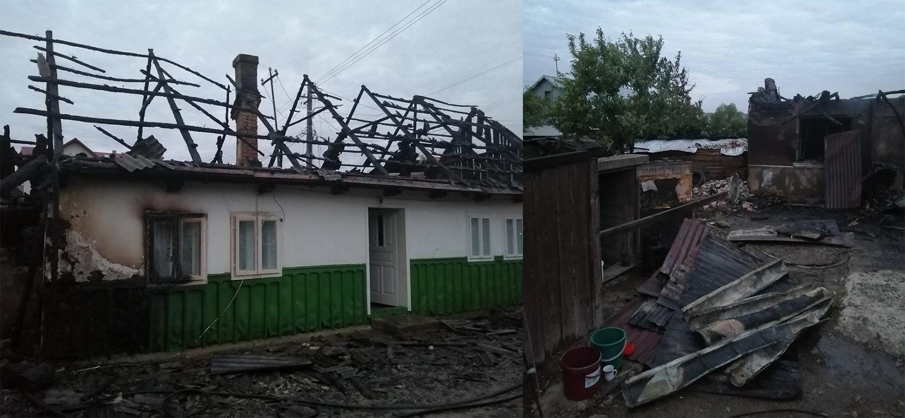 Incendiu în comuna Dornești